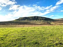 Landscape View Of, Pen-y-ghent, Near The Hamlet Of, Halton Gill, Skipton, UK