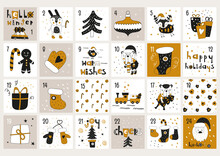 Gold And Black Advent Calendar...