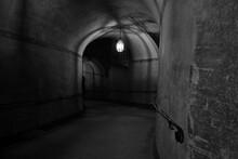 Arched Illuminated Corridor In...