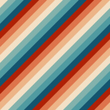 Seamless Rainbow Stripes Pattern. Retrowave 80s Art Retro Rainbow Vector Illustration Background