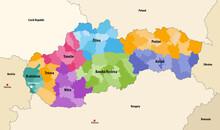 Districts (okresy) Of Slovakia...