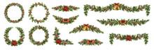 Big Set Of Christmas Fir Garla...
