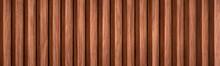 Large Wallpaper Of Reddish Solid Wood Slats. Vertical Version.