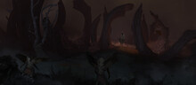 Digital Painting Of Evil Mytho...