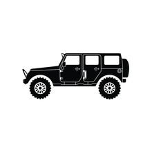 Jeep Silhouette Logo Design