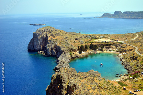 Foto Heart-like laguna on Rhodes island