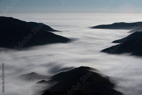 Fog Envelops the Santa Monica Mountains in Malibu California