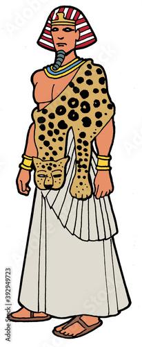 Ancient Egypt - Egyptian high priest Canvas Print