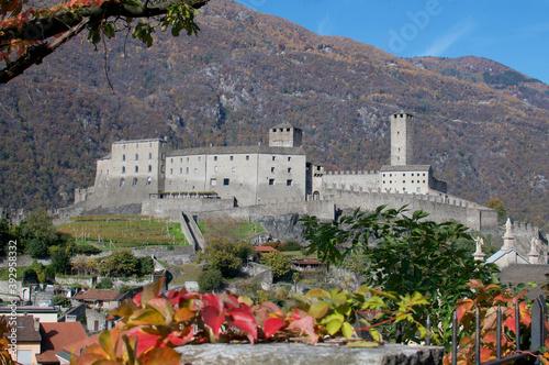 View of Castel Grande Castle in Bellinzona, Switzerland - fototapety na wymiar