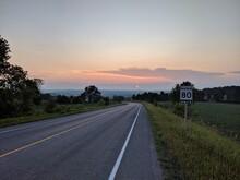 Sunset Roadway 80 Km Speed Limit