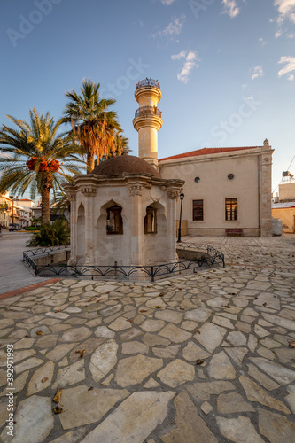 Ottoman mosque in a square in town of Ierapetra. Canvas