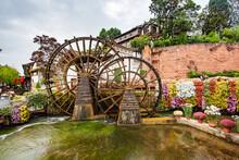 Big Waterwheel In Dayan Ancient Town, Lijiang, Yunnan