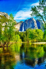 Yosemite Falls From The Valley...