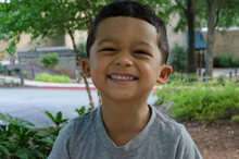 Portrait Of A Child Smiling