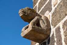 Gargoyle On A Church In The Town Of Le Puy En Velay In France