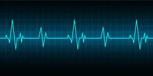 Blue Heart Pulse Monitor With ...