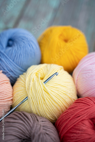 background of coils of yarn for knitting Fototapet