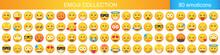 Big Set Of Emoticon Smile Icon...