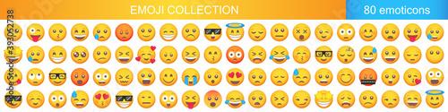 Foto Big set of emoticon smile icons