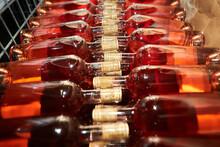 Resting Wine Bottles Stacked O...