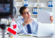 Blogger Doing Webcast On Canad...