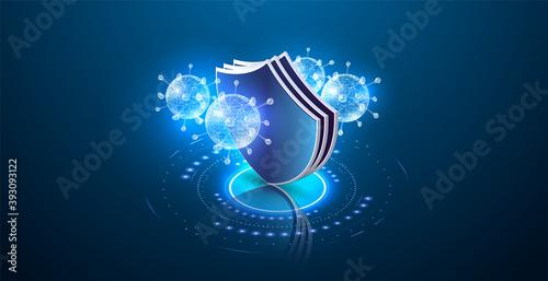 Fotografie, Obraz Virus protection, website page template