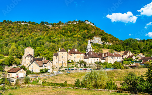 Village of Baume-les-Messieurs in the Jura department of France