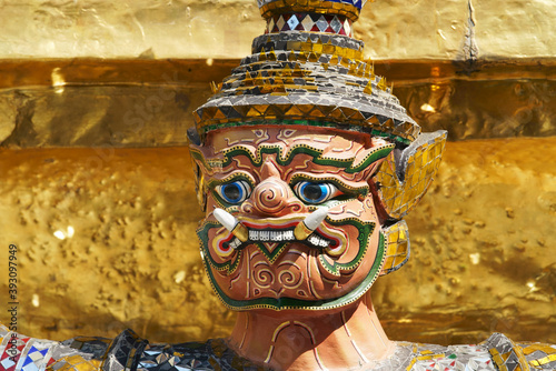 Obraz na plátně head of ramayana statue