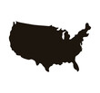united states of america map icon