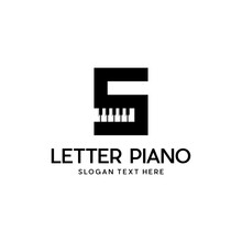 Letter S Piano Musical Modern Abstract Creative Business Logo