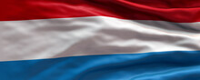 Waving Flag Of Luxembourg - Flag Of Luxembourg - 3D Flag Background