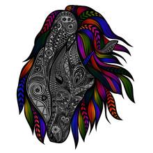 Vector Unicorn With Colored Ma...