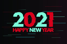 2021 Happy New Year Speed Fastest Font Style Text Vector Design