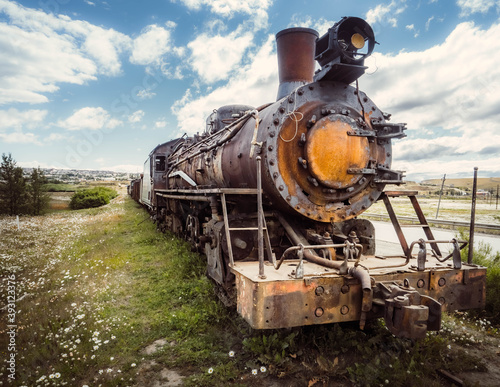 old steam train Canvas Print
