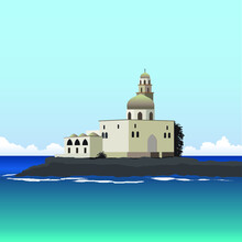 Island Old Mosque Vector Draw ...