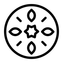 A Traditional Mexican Symbol In Filled Style, Mexican Tribal Design