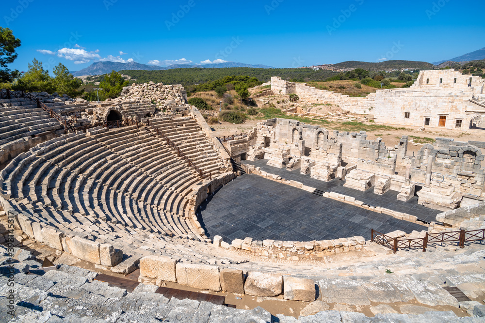 Fototapeta Antique Theatre in the ancient Lycian city of Patara, Turkey.