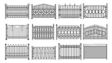 Fence, Metal Gates, Iron Steel Barriers, Fencing
