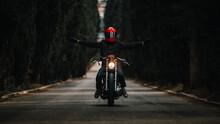 Biker In Black Leather Jackets...