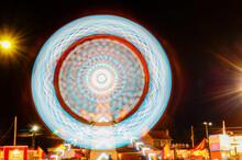 Long Exposure Of The Zipper Ride At Bloomsburg Fair