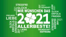 Wir Wünschen Das Allerbestee 2021 Mit Glücksklee
