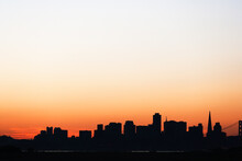 Scenic View Of Silhouetted San...
