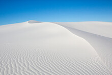 View Of White Sand Dunes In White Sands National Monument