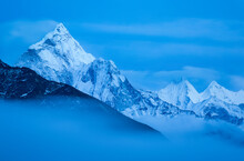 Scenic View Of Snow Covered Ama Dablam