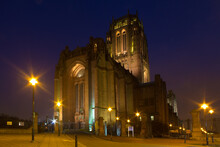 Scenic View Of Liverpool Cathe...