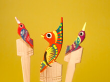 Colorful Mexican Wooden Craft,...