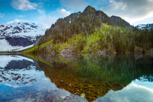 Scenic View Of Reflection Of M...