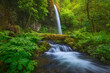 Scenic view of waterfall in Columbia River Gorge National Scenic Area