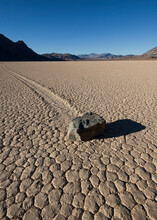 View Of Moving Rock On Racetrack Playa In Death Valley National Park