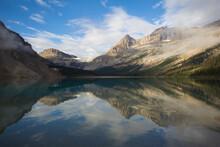 Scenic View Of Bow Peak Reflec...